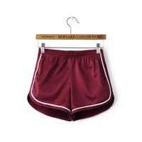 New 2019 Women Shorts Summer Silk Slim Beach Casual White Egde Shorts Hot Sport short