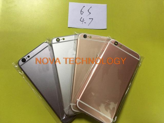 """4.7 """"Для iPhone6S Полный Жилищно Для iPhone 6 S Батарейного Отсека Задняя Крышка Крышка С Кнопкой Лоток Отслеживая Номер"""