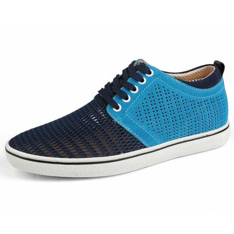 Altura Crescente Sapatos de Couro Genuíno Homens