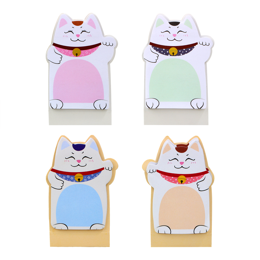 1Pack 2018 Hot Sale DIY Lucky Cat Memo Pad Sticky Label Post it School Sticky Note Office Supplies Stationery E2041