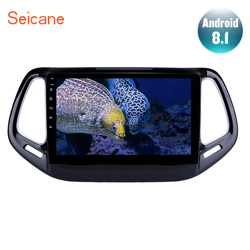 Seincae for 2017 Jeep Compass 10 1 inch Android 8 1 Car Head Unit GPS Navigation