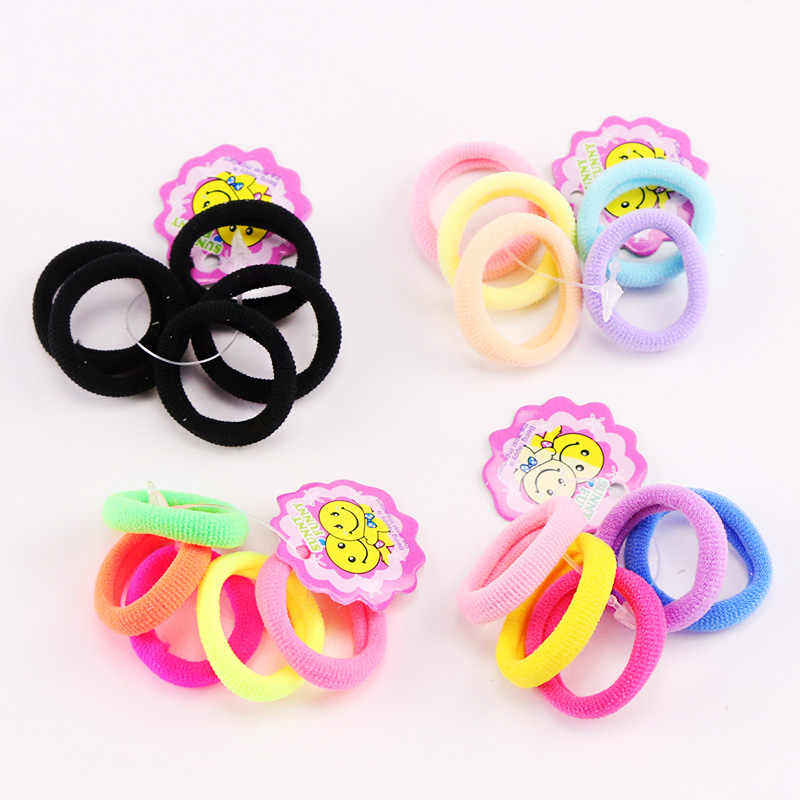 5pcs/Lot Good Quality Girls 3CM Small Ring Colorful Hair Ropes Cute Kids Ponytail Holder Elastic Hair Bands Hair Accessories