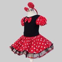 Tutu Dress Halloween Cosplay Xmas Minnie Girls Dress Christmas Party Kids Girl Birthday Fancy Costume Ballet