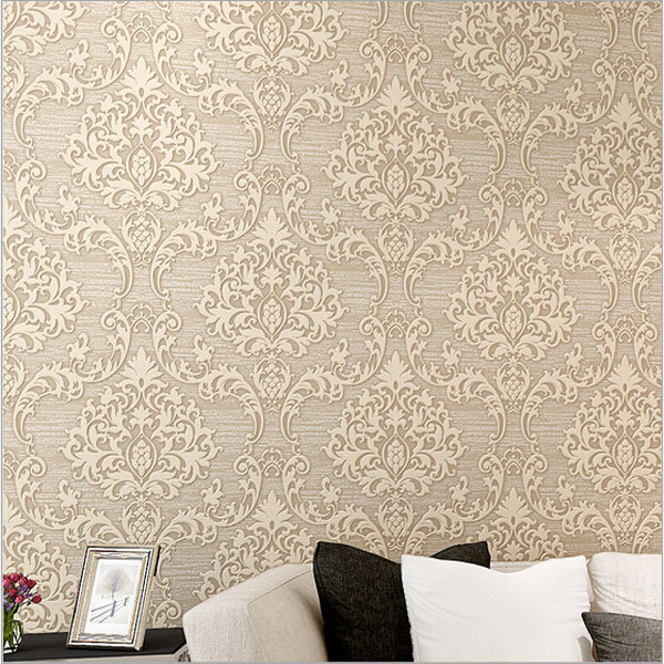 Luxury Europe Damascus Stereo Embossed Wallpaper Home Decor Ecofriendly Bedroom Wallpapers Non Woven Mural Wall Paper Qz044 In From