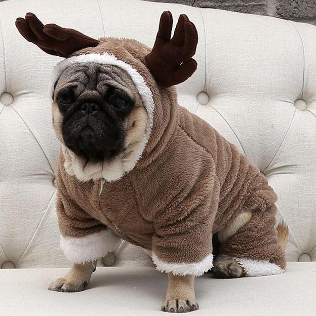 Small Dog Clothes Christmas Coat Jacket Chihuahua Pug Clothing