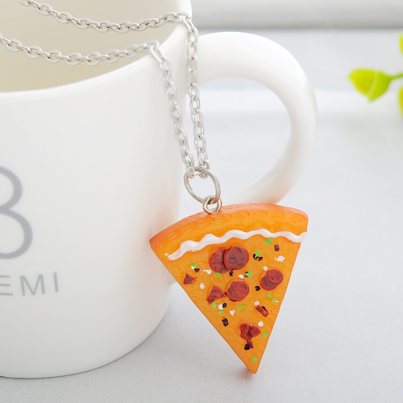7 pcs / set Pizza Pendant Kalung Keychain Keyring Sahabat Selamanya - Perhiasan fashion - Foto 6