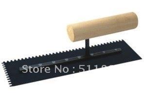 NCCTEC Notched Trowel 5mm X 4mm Teeth Wooden Handled