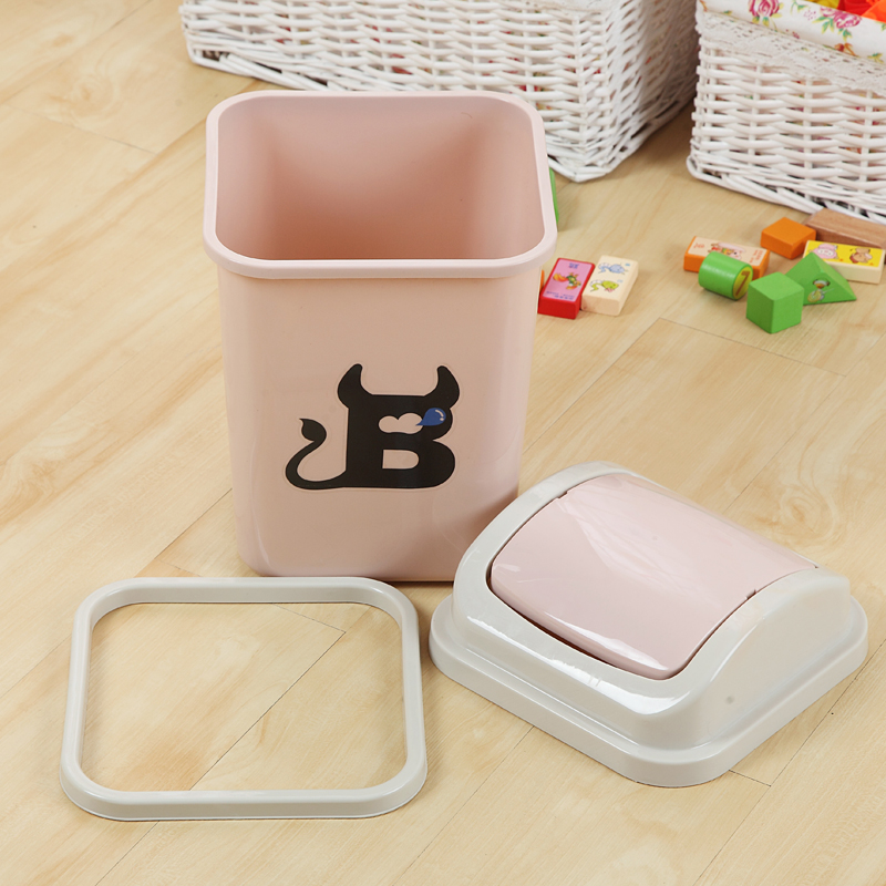 Aliexpress.com : Buy Cute Plastic Trash Cans Rocking Cover Type ...
