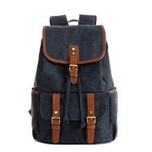 2016 neue vintage rucksack männer casual rucksäcke frauen männer solide leinwand schule rucksäcke für teenager männer reisetaschen