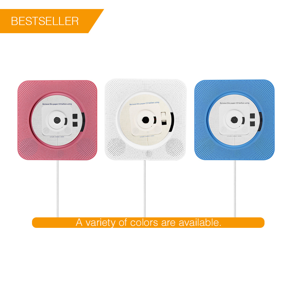 ET Multifunctional Bluetooth CD Player with Remote Control MP3 Players Wireless Speaker Portable FM Radio Mini