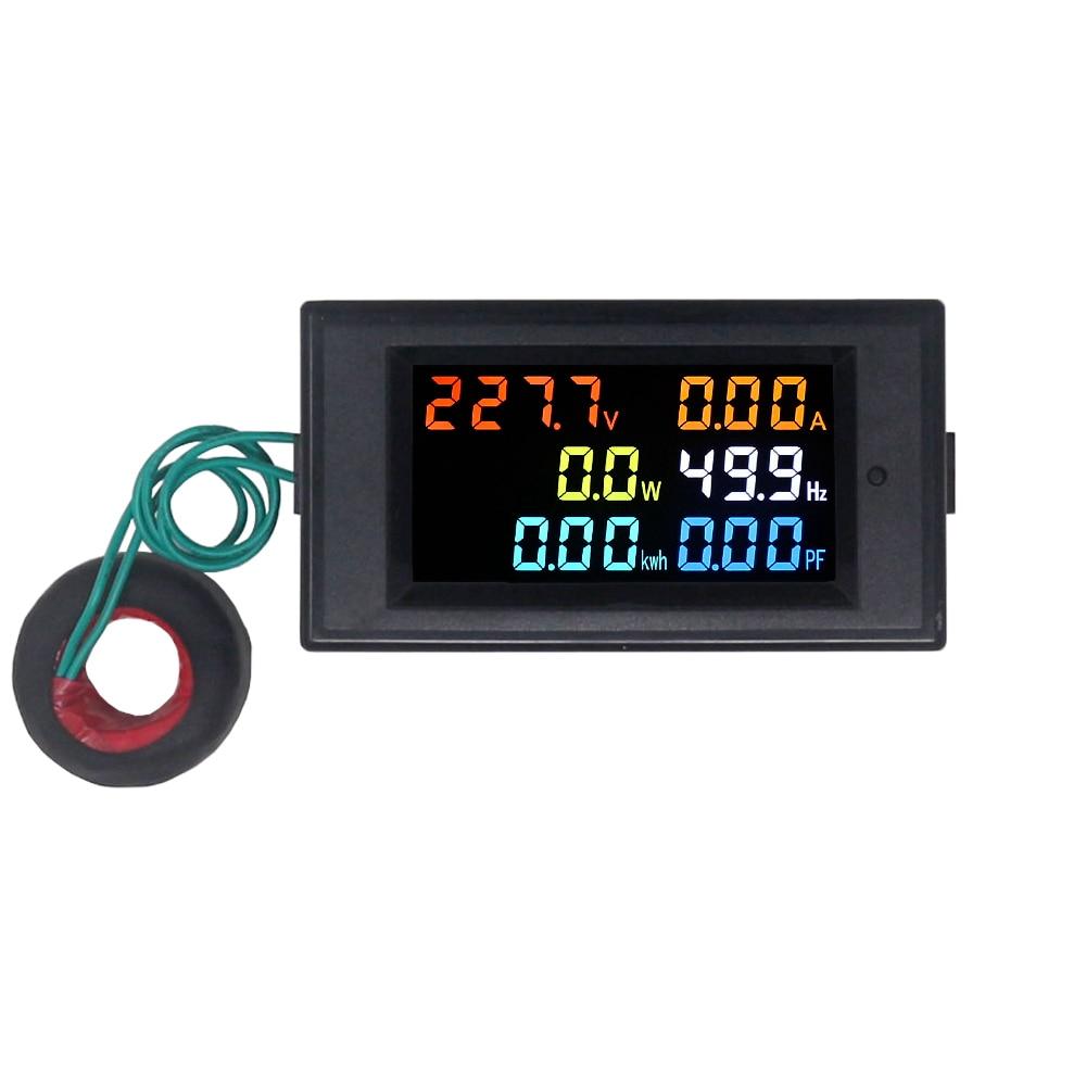 Voltmetro AC Amperometro Power Energy Meter AC 80,0-300,0 V / AC - Strumenti di misura - Fotografia 5