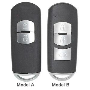 Image 3 - KEYECU pour Mazda 3 6 CX 3 remplacement de CX 5 2/ 3/ 2 + 1/ 4 bouton Smart télécommande voiture clé coque Fob prise rouge avec lame non coupée