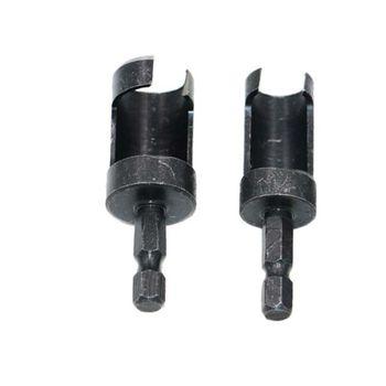 цена на New 1/4 Hex Shank Woodworking Carbon Steel Wood Work Plug Cutter Cutting Power Tool Drill Bit Set
