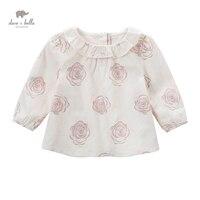 DB5039 데이브 벨라 여자 아기 라인 탑 꽃 인쇄 블라우스 디자인