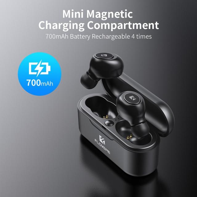FLOVEME Mini TWS Wireless Headphones Bluetooth 5.0 Earphone Sport Earphones Headset 3D Stereo Sound Earbuds Micro Charging Box 1
