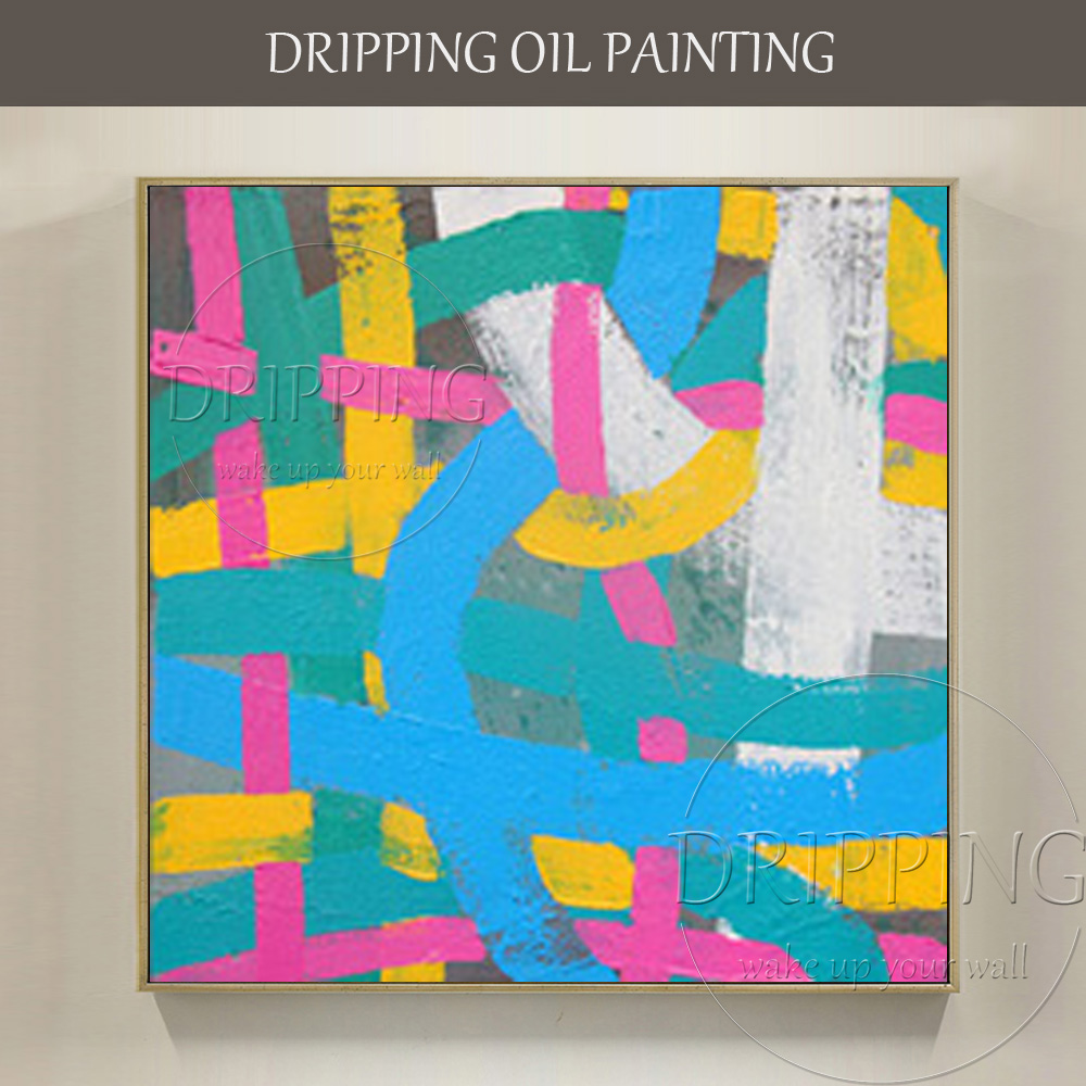 Fashion Design Hand painted High Quality Beautiful Colors Abstract Oil Painting on Canvas Combination Abstract Oil Painting