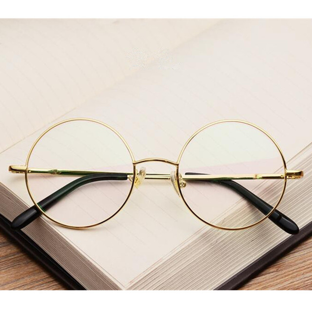 544acabe90d00 60s Vintage Round 46mm Spring Hinges John Lennon HARRY POTTER Eyeglass  Frames Full Rim myopia Rx able Glasses