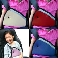 Car Seat Safety Belt Cover Sturdy Adjustable Triangle Auto Safety Shoulder Harness Strap Cover Child Neck Protect Positioner(China)