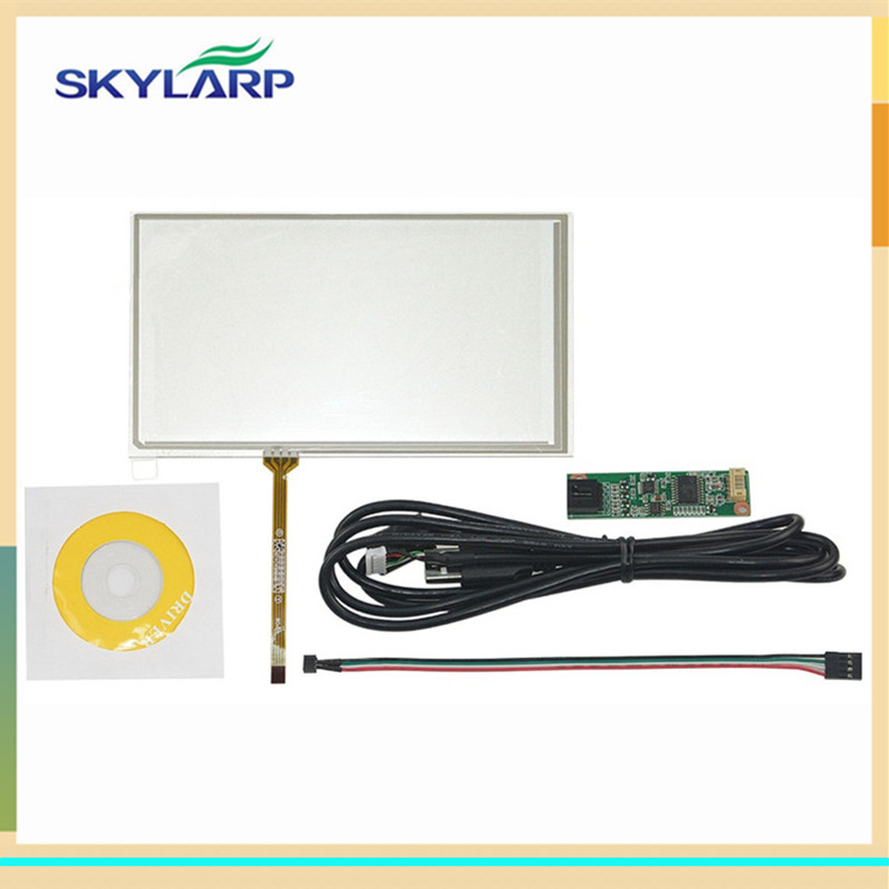 skylarpu 6.2 inch 155mm*88mm 4 Wire Resistive Touch Screen USB Controller For TM062RDH03 155*88mm touch digitizer panel Glass skylarpu new 7 inch 4 wire resistive touch screen for at070tn90 at070tn94 at070tn92 digitizer panel glass with usb control kit