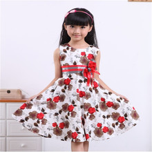 COSPOT Floral Girls Trendy Dress with Bow