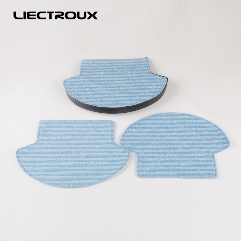 (For B6009) for LIECTROUX Robot Vacuum Cleaner B6009,water tank x 1pc + Mop cloth x 3pcs for b6009 left