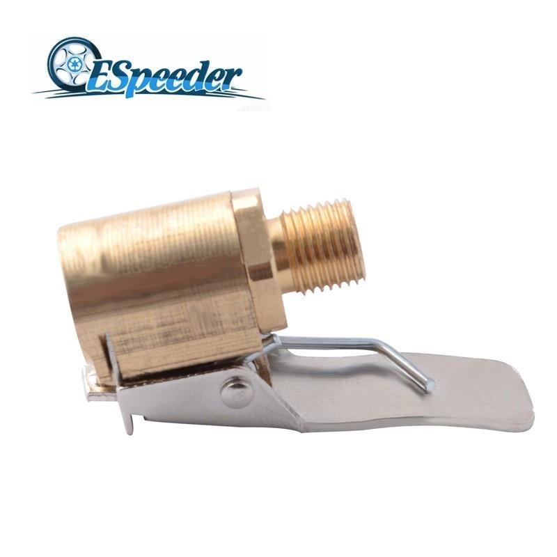 ESPEEDER 1PC Car 8mm Tyre Wheel Tire Clip Brass Air Chuck Inflator Pump Valve Connector Clamp Adapter