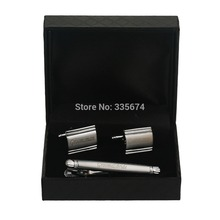 CT-007B  Personalized cufflinks and Tie Clip Sets for grooms wedding with perfect handcraft Customized Cufflinks