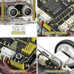 Image 4 - NEW!Keyestudio 2WD Desktop Mini Bluetooth Robot  Smart Car V2.0 Kit For Arduino Robot Starter  STEM Four  Function(No Battery)
