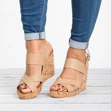 c75e58c2 WENYUJH sandalias de verano para mujer cuñas zapatos de punta abierta  tacones altos alto aumento de