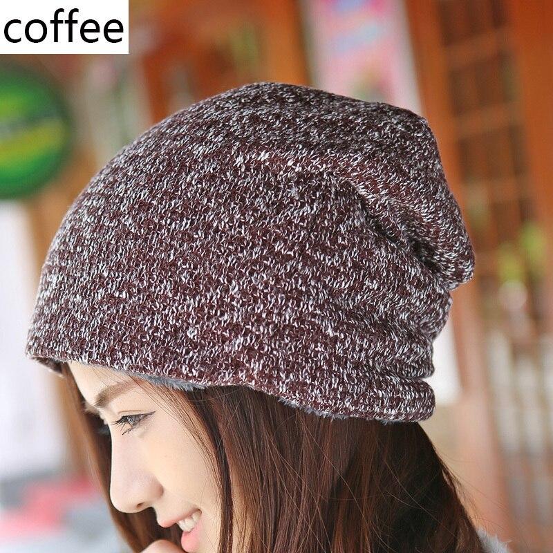 Sombrero de invierno Gorros de piel de punto Gorras cálidas Skullies - Accesorios para la ropa - foto 5