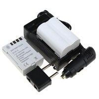 2ピースバッテリー+充電器7.4ボルト充電式カメラバッテリーオリンパスe300 e500 e3 e5 e520 e510