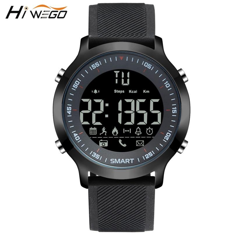 Hiwego Smart Watch Waterproof 5ATM Passometer Message Reminder Ultra-long Electronic Watch Outdoor Swimming Sport Smartwatch