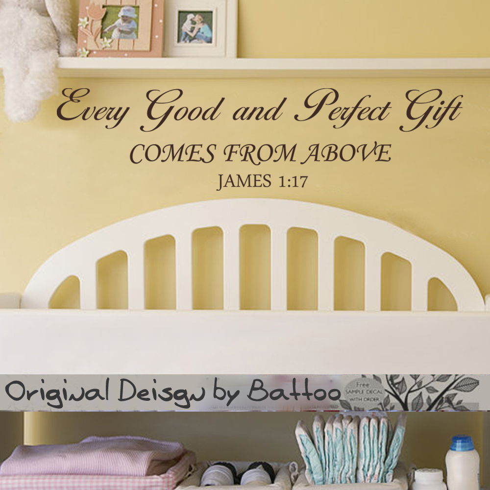 Christian Vinyl Art Quote Every Good And Perfect Gift Comes From ...