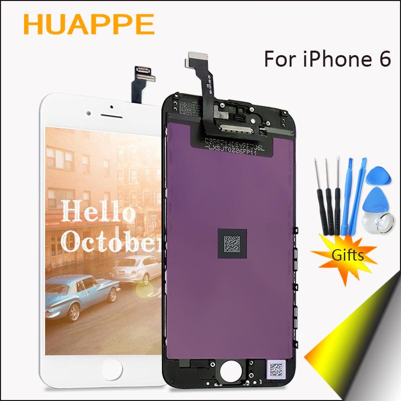 Prix pour Pas de Dead Pixel D'affichage Pour Apple iPhone 6 LCD Tactile écran Pièce De Rechange Noir Blanc 4.7 pouces Avec Digitizer Haute qualité