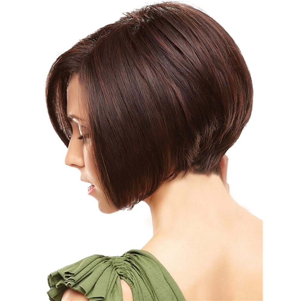 1PC Short Bobo Wigs Kanekalon Hair For Black Women Highlighted Straight Synthetic Heat Resistant Fiber Natural U Part Wig
