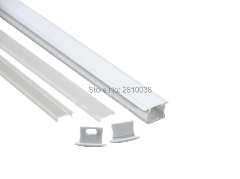 Perfil de aluminio anodizado de 50 x 1 M Sets / Lote estilo T para - Iluminación LED - foto 3