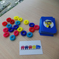 IQ brain teaser game colorful finger ring circle toy plastic bingo game card funny novelty toy for Children kids early education