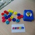 Iq juego de colores dedo círculo anillo de juguete de plástico tarjeta de juego de bingo divertido juguete de la novedad para niños kids early la educación