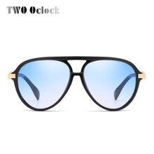 TWO Oclock Oversized Skull Aviation Sunglasses Women Designe