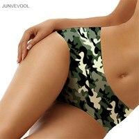 Iç çamaşırı kadın Kızlar Külot Hipster Knickers Külot Pantolon 3D Kamuflaj Baskı Iç Çamaşırı Şort Büyük Boy Külot Sexy Lingerie