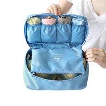 Travel Organizer Waterproof Nylon Cosmetic Bra Underwear Storage Bag