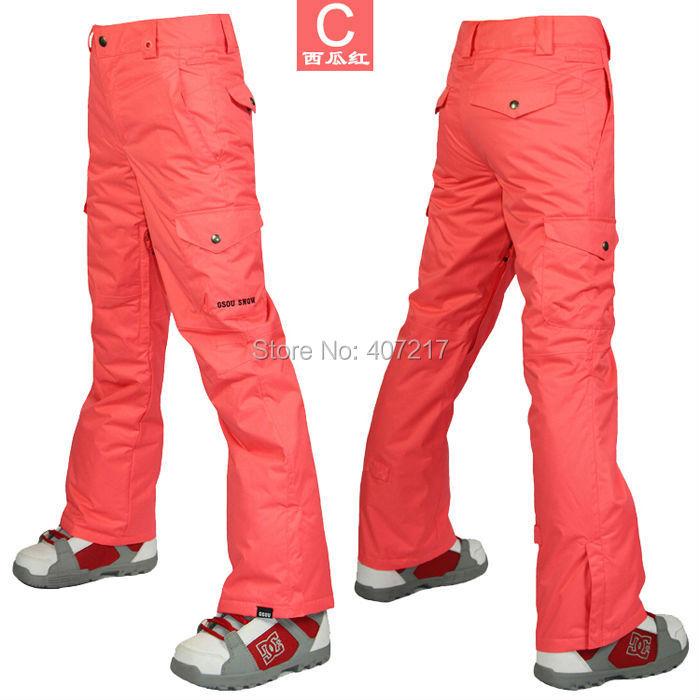 Womens violet ski pants female purple snowboarding pants outdoor sports trousers skating pants waterproof breathable warm 15