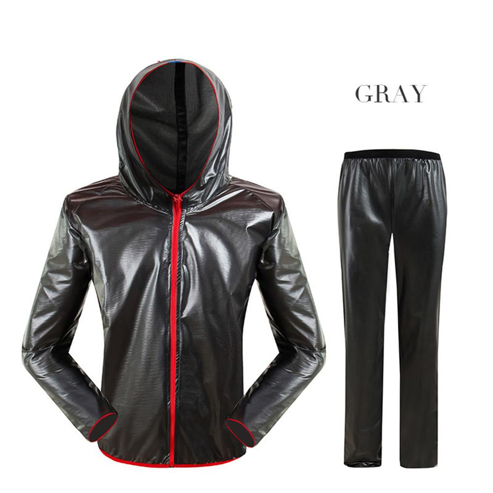 Unisex Cycling Raincoat Suits Outdoor Windproof Waterproof Rainwear Riding Rain Coat + Pants