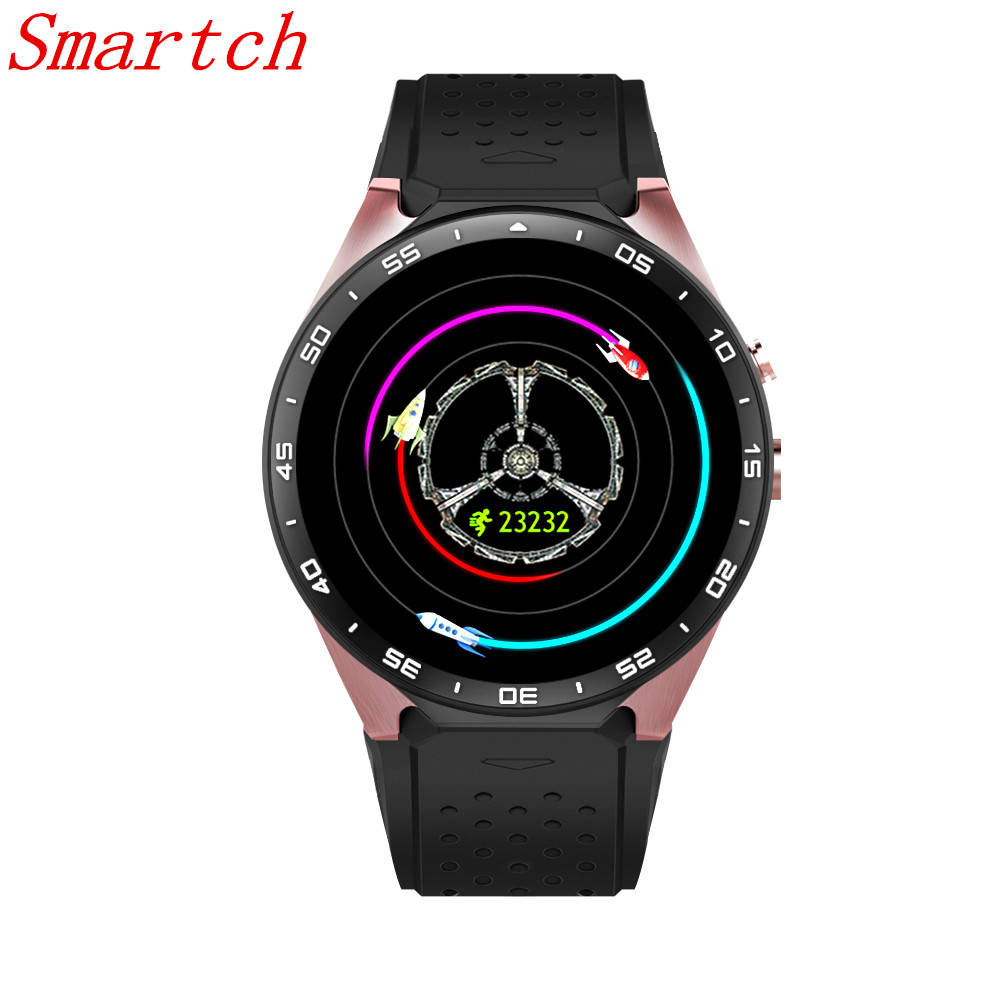 Smartch KW88 Smart Watch MTK6580 Clock Smartwatch Android 5.1 Bluetooth 4.0 3G Heart Rate Monitor Quad Core 512MB RAM 4GB ROM цена