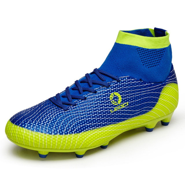 New Adults Men's Boys Kids Outdoor Soccer Cleats Shoes Ankle Top TF/FG Football Boots Training Soccer Sports Sneakers EU33–45