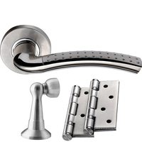 High Quality bathroom door lock 3 piece sets without key single tongue lock handle lock Bathroom Set,Free Shipping by Express