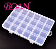 2016 New Design Free Shipping 24Cells Empty Nail Tips Box Nail Storage Container Nail Tips Case