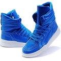 Nova Patente Da Chegada PU Homens De Couro Sapatos Da Moda Primavera Outono Tornozelo botas de Homens Sapatos De Alta-Top Homens Botas Flats Sapatos de Dança de Hip Hop