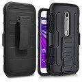 For Motorola Moto G3 Case Armor 3 in 1 Belt Clip Stand Hard Phone Cover Cases For Moto G3 3rd XT1541 XT1542 XT1543 Gen 5.0 inch