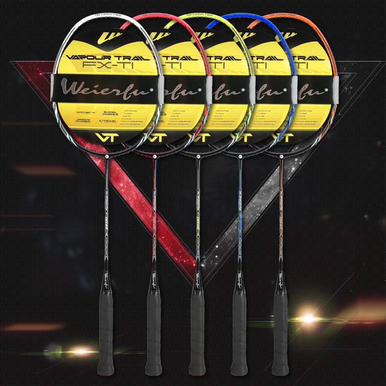 Ultra light Graphite Single High-grade Badminton Racquet Carbon Fiber Badminton Racke,Including Badminton Bag Ball Control Type